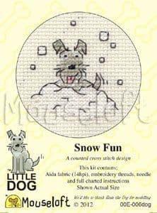 Mouseloft Snow Fun Little Dog cross stitch kit